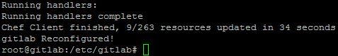 GitLab reconfigure