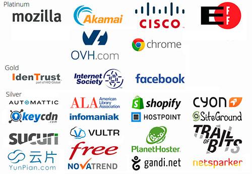 Patrocinadores del proyecto Let's Encrypt
