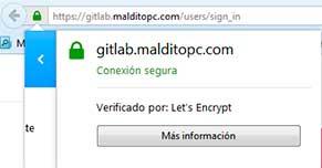 Barra verde Let's Encrypt
